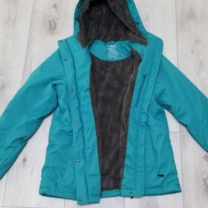 L L BEAN JACKET GREEN MEDIUM
